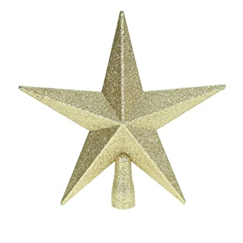 Glitter Star Christmas Tree Topper - Gold (20cm): Amazon.co.uk ...