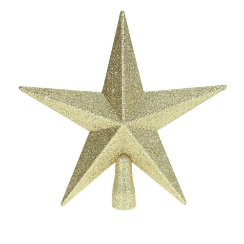 glitter star christmas tree topper gold 20cm amazoncouk kitchen home