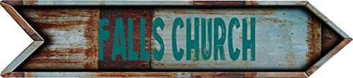 Any and All Graphics Falls Church City Vintage Rustic look Arrow shaped 8