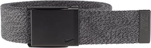 Nike Men's Heather Web Belt, Dark Grey, One Size from Nike