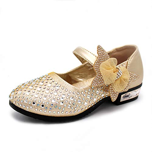 Kikiz Little Girl's Princess Dress Shoes Kids Mary Jane 2.5 M US Little Kid]()