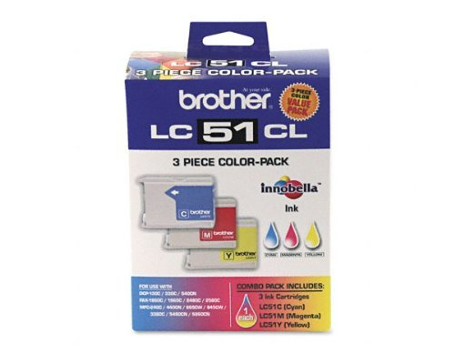 Mfc 465cn Colour - Brother MFC-465cn 3-Color Ink Combo Pack (OEM) 400 Pages Ea.