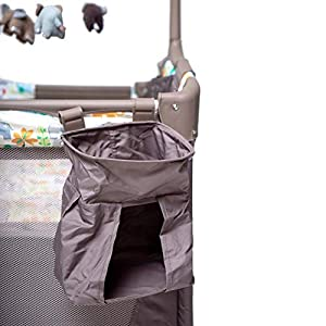 Baby playpens with Bassinet, Foldable Baby Bassinets Bed Napper with Carry Bag Brake Wheels and Music Whirling Toys, Newborn Baby Gift, Cute Elephant Pattern – Ationgle
