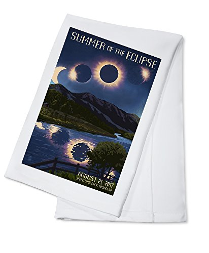 Jefferson City, Missouri - Solar Eclipse 2017 - Summer of the Eclipse (100% Cotton Kitchen (Jefferson Towel)