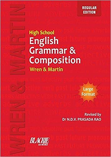 High School English Grammar & Composition: Wren: 9789352530144 ...