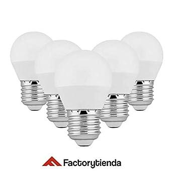 DiluxeLED G45- Bombillas Led Esféricas,6W(equivalente a 60 W,480Lumen 6400K Luz Blanca). Pack X5 unidades: Amazon.es: Iluminación
