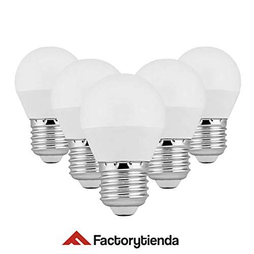 DiluxeLED G45- Bombillas Led Esféricas,4W(equivalente a 40 W,320Lumen 6400K Luz Blanca). Pack X5 unidades: Amazon.es: Iluminación