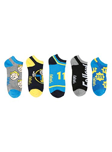 Price comparison product image Fallout 4 No-Show Socks 5 Pair
