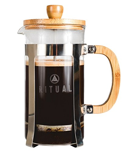French Press by Ritual, New and Improved Stainless Steel and Bamboo Design 9 cup Coffee Press Maker (36 Oz) Tea Maker with Thick Professional Grade Screen and Filter (Kitchen Aid Coffe Grinder compare prices)