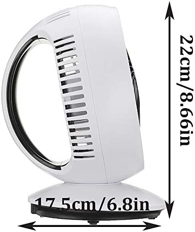 Mini-luchtcirculatieventilator, 360 ° rotatie Gale Desktop Comfortabele stille werking Wandmontage Windsnelheidregeling met 3 snelheden USB, voor woonkamer Slaapkamer 2KBZq3bF