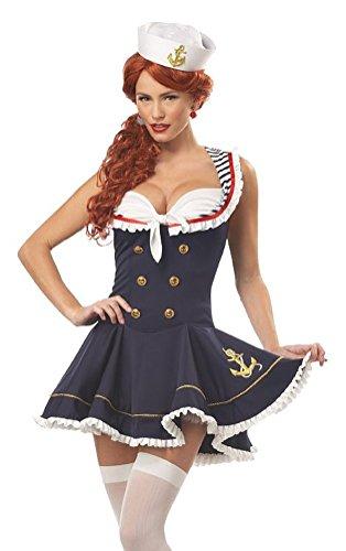 California Costumes Womens Nautical Doll CostumeNavySmall