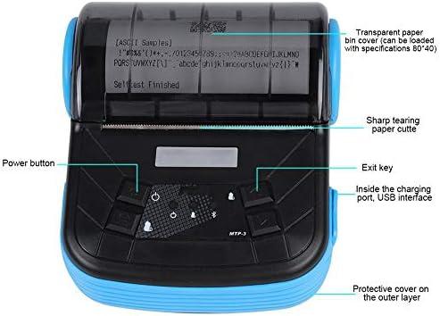 Vbestlife Impresora t/érmica de Recibos Negro Mini port/átil 80mm USB inal/ámbrico Bluetooth Bill POS Impresora de Etiquetas con Windows//iOS//Android Compatible para Tienda//Restaurante