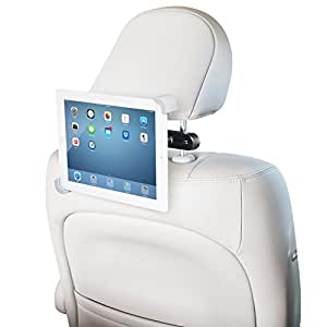 """LilGadgets CarBuddy Universal Headrest Tablet Mount (For 7""""-11"""" devices such as iPad, Galaxy, Note, Fire, Nook, and Surface tablets)"""