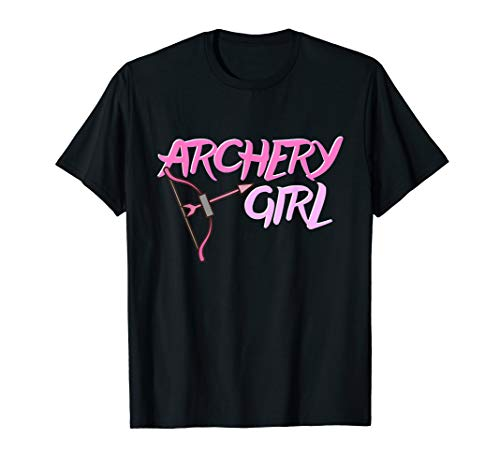 Archery Girl Gift T Shirt Bow and Arrow Girly Sports Shirt -