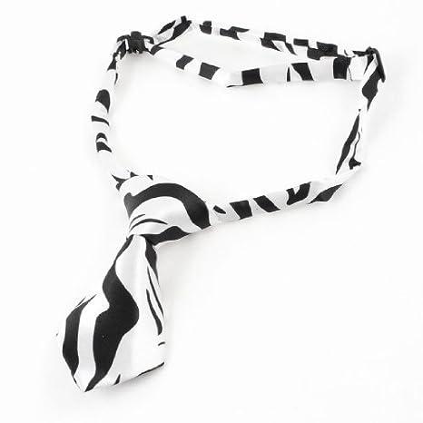 Blanco y Negro Pre Corbata Ajustable Perro Cachorros Perros Gato ...
