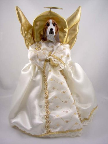 - Basset Hound Angel Tree Topper