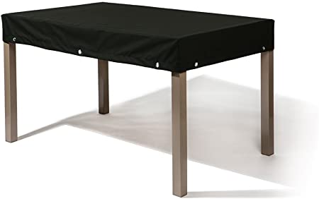 Table et 6 fauteuils encastrables chocolat + housse protection