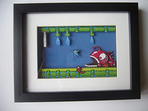 Mega Man NES 3D Shadow Box Diorama Art for sale  Delivered anywhere in USA