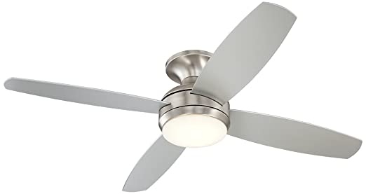 52 casa elite brushed nickel led hugger ceiling fan amazon aloadofball Gallery