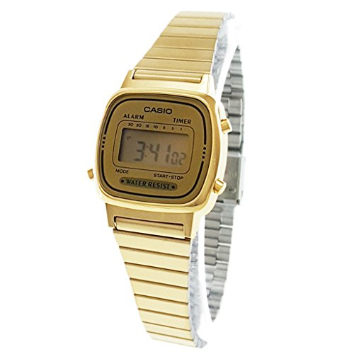 Casio Women's LA-670WG-9D Gold Steel Casual Digital Watch