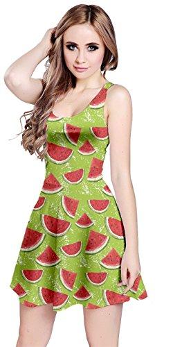 CowCow Womens Summer Hawaii Beach Surf Tropical Fruits Toucan Pineapple Banana Strawberry Sleeveless Dress, XS-5XL