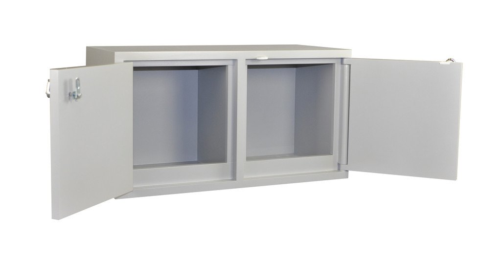 Acid 10 x 2.5 L//Flammable 8 x 1 gal Capacity Scimatco SC9041 Gray Plywood Mini Stak-a-Cab Safety Storage Bench Combo Cabinet