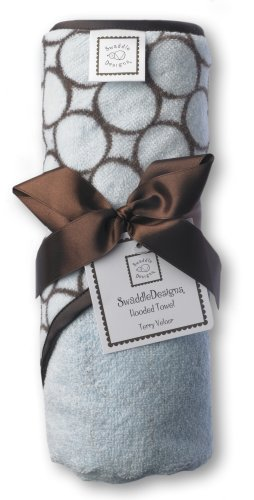SwaddleDesigns Essentials, Set of 8 - Pastel Blue with Chocolate Brown by SwaddleDesigns (Image #6)