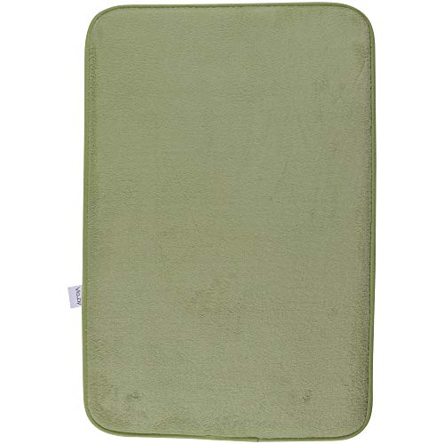 Via Jay Non Slip Memory Foam Bathroom Mat Rug, Microfiber Absorbent Soft, Shower - Sage Green, Small (16