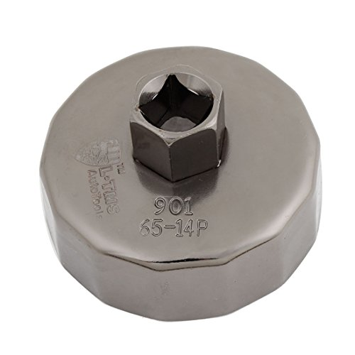 uxcell® Cap Oil Filter Socket Wrench Cup Tool 65mm ID 14 Flutes