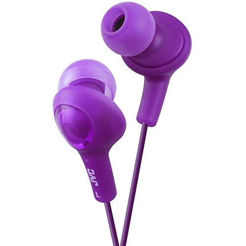JVC HAFX5V Gumy Plus Inner Ear Headphones (Grape Violet)