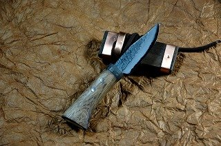 四万十渓流ナイフ 80 dm31 青2両刃樫オイルステン 601492-045   B00SAZ5SX6