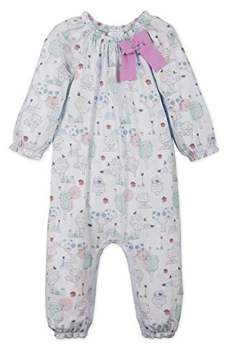 Feather Baby Girls Clothes Pima Cotton Long Sleeve Bow One Piece Jumpsuit Romper (6-9 Months, Kawaii on Baby -