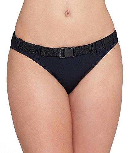 Pour Moi LBB Belted Bikini Bottom, 10/S, Black (Bikini Swimsuit Belted Bottom)