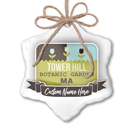 Botanic Garden Tower - NEONBLOND Create Your Ornament US Gardens Tower Hill Botanic Garden - MA Personalized