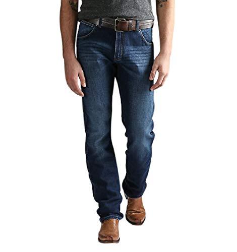 (Wrangler Men's Retro Premium Slim Fit Straight Leg Jean, Burke, 40X32)