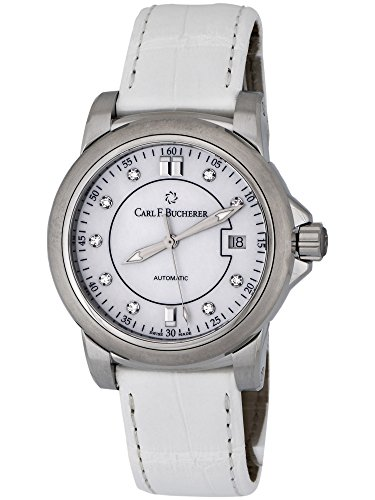 Automatic Mop Dial - Carl F. Bucherer Patravi AutoDate Automatic Steel Strap Watch MOP Dial 00.10617.08.77.01 Retail Price $4,400.00