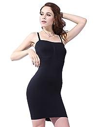 Franato Women's Seamless Body Shaper Slimming Tube Dress Shapewear Slips