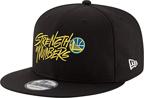 (New Era Golden State Warriors Strength in Numbers 9Fifty Snapback Adjustable Hat -)