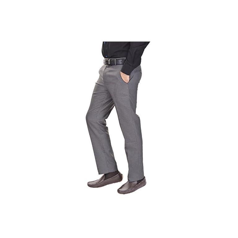 41dxH TvDrL. SS768  - AD & AV Men's Regular Fit Formal Trousers