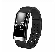 Heart Rate Monitor ,Tigerhu OLED Smartband Bluetooth 4.0 Pedometer Fitness Tracker Sport Bracelet For Apple Ios Android (Black)