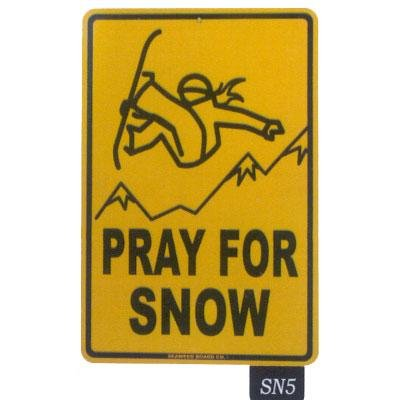 Seaweed Surf Co SN5 12X18 Aluminum Sign Pray For Snow (Girl) (Seaweed Surf Co compare prices)