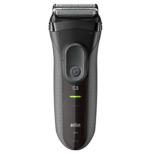 Electric Shaver for Men by Braun Series 3 ProSkin 3000s Rechargeable Electric Razor, Skin Protection, Washable, 45-Minute Battery Life, Black (Best Braun Shaver For Sensitive Skin)