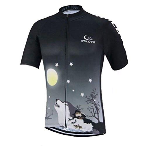 Uriah Men's Cycling Jersey Short Sleeve Reflective Wolf Night Size XXL(CN)