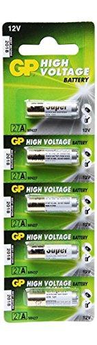 5 GP 27A High Voltage Super Alkaline 12V Batteries