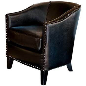 Superieur Best Selling Studded Club Chair, Black