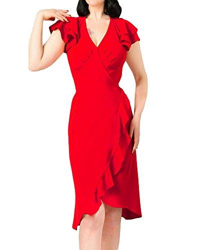 Ruffled Wrap Dress - 1