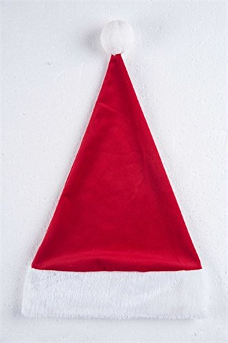 Fabric Santa Hat Christmas Tree Topper (Tree Hat Santa Topper Christmas)