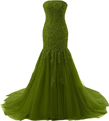 Missdressy - Vestido - para mujer verde oliva