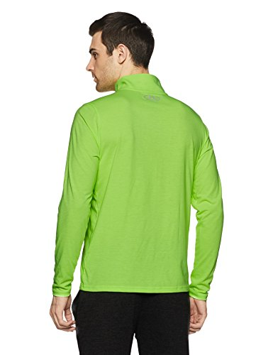reflective 1 Armour shirt Homme 4 Under Streaker Zip T Quirky Lime Manches Longues CAwq7Yw