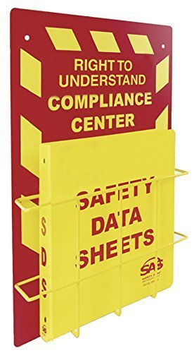 SAS Safety 6000-75 MSDS Compliance Center, Wall Mount by SAS Safety